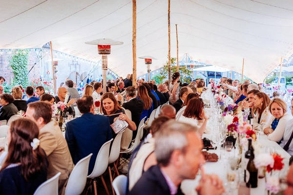 Outdoor wedding breakfast at De Deugdzonde