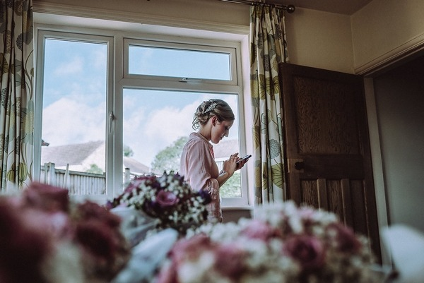 Bride to be texting