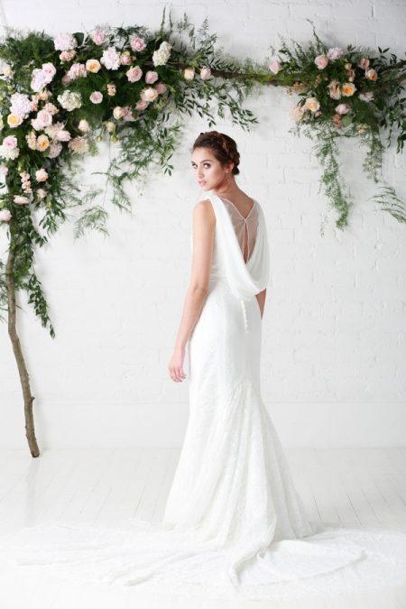 Back of Athena Wedding Dress - Charlotte Balbier Untamed Love 2017 Bridal Collection