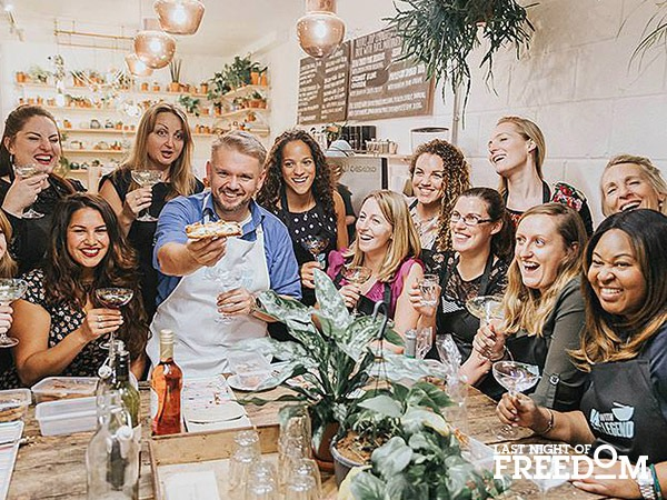 Bake with a Legend baking hen party workshop
