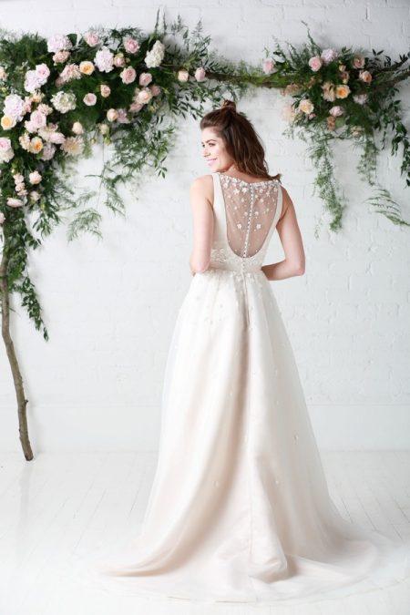 Back of Hepburn Wedding Dress - Charlotte Balbier Untamed Love 2017 Bridal Collection