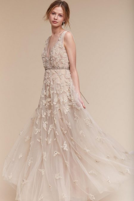 BHLDN Wedding Dresses Anthropologie's wedding collection, BHLDN, is short for BEHOLDEN, which means