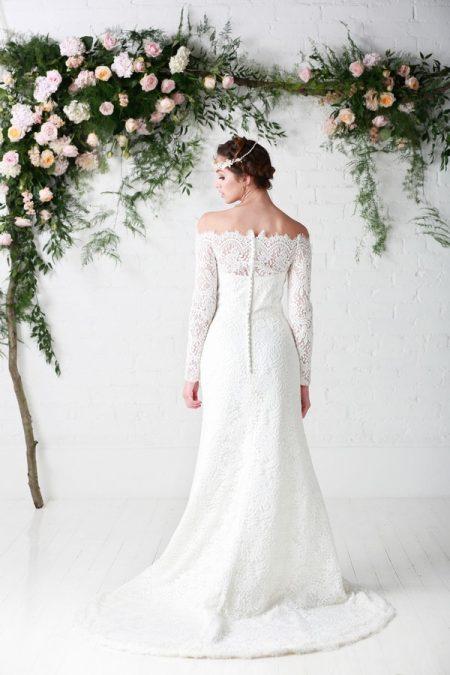 Back of Maribel Wedding Dress - Charlotte Balbier Untamed Love 2017 Bridal Collection