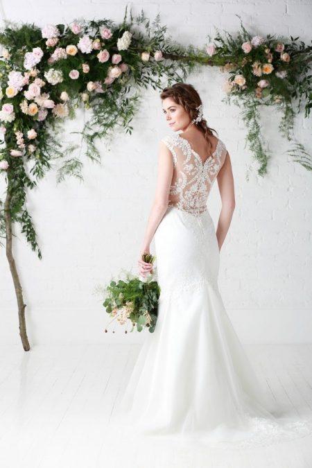 Back of Milena Wedding Dress - Charlotte Balbier Untamed Love 2017 Bridal Collection