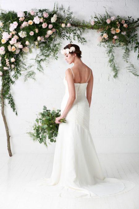 Back of Nadine Wedding Dress - Charlotte Balbier Untamed Love 2017 Bridal Collection