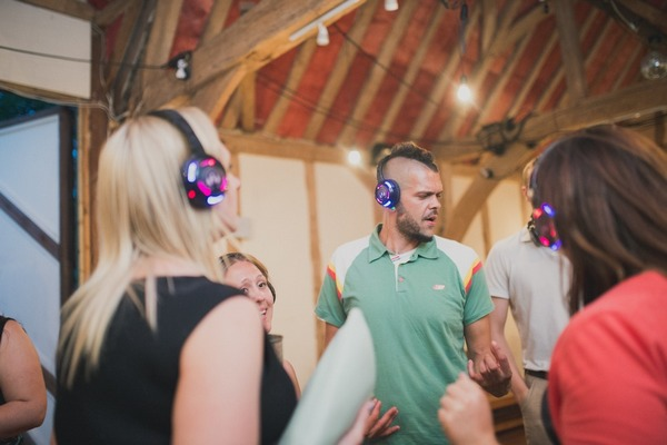 Silent Disco at Wedding