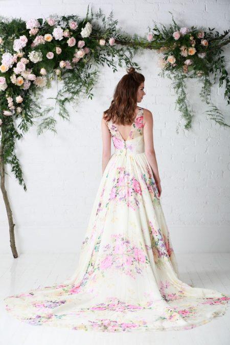 Back of Untamed Love Wedding Dress - Charlotte Balbier Untamed Love 2017 Bridal Collection