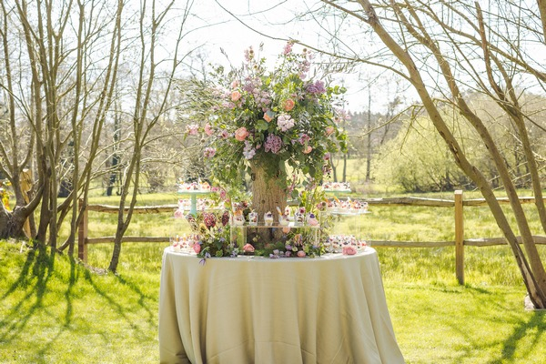 Spring/summer themed wedding grazing station