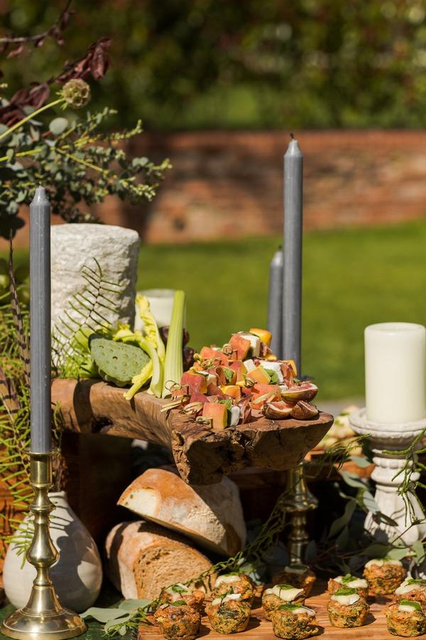 Finger food on wedding grazing station