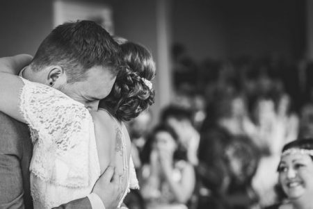 Bride and groom hugging after getting marries - Picture by Lee Maxwell Photography