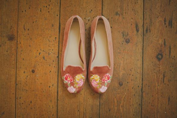 Bride's flat shoes
