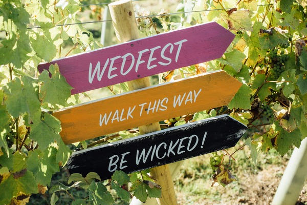 Wedfest sign