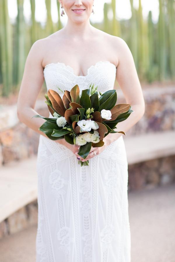 Magnolia leaves bouquet