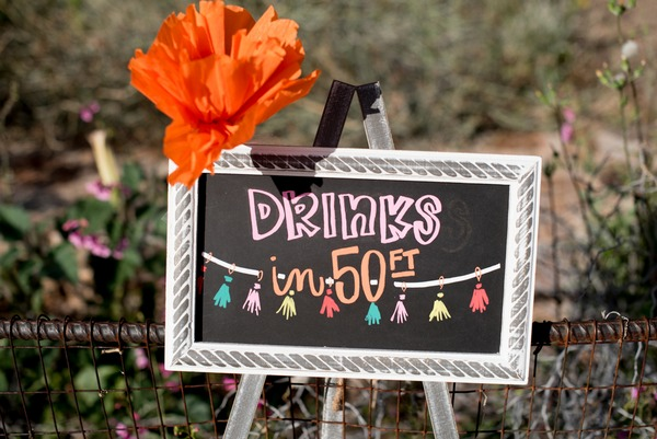 Drinks in 50ft sign
