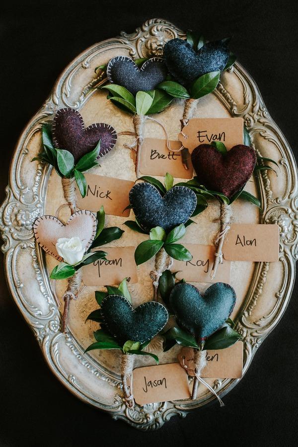 Heart fabric buttonholes