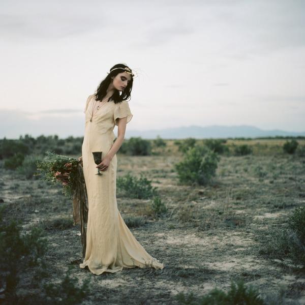 Bride leaning back