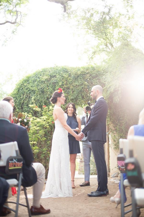 Wedding ceremony at Tohono Chul Park