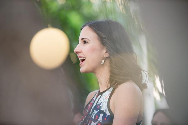 Speaker during wedding ceremony