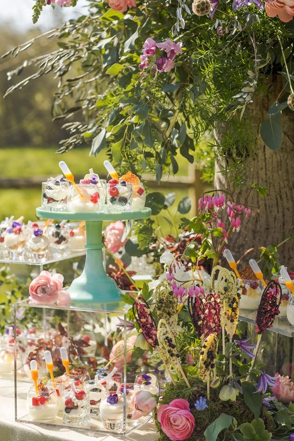 Sweet treats on wedding grazing station