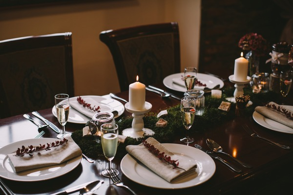Woodland table decorations