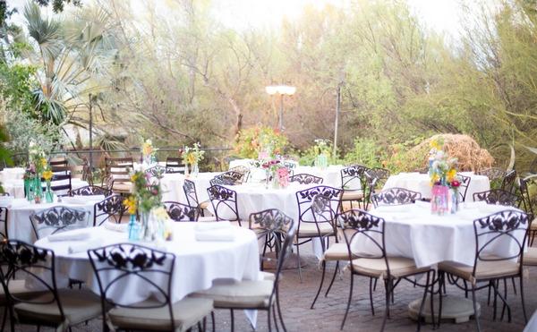Wedding tables at Tohono Chul Park