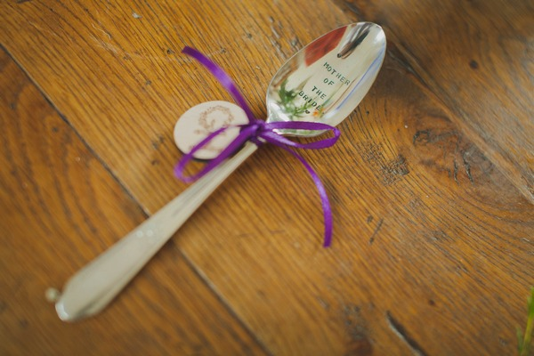 Mother of the bride engraved spoon