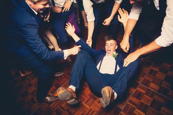 Wedding guest break dancing