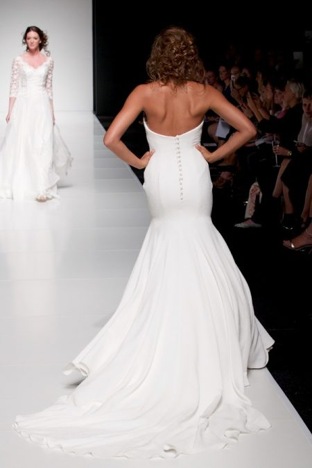 Back of Astrid wedding dress from the Sassi Holford Twenty17 Bridal Collection