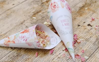 Personalised Confetti Cones from Shropshire Petals