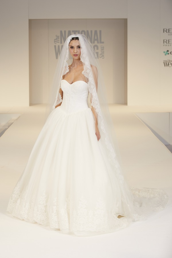David's Bridal Wedding Dress on The National Wedding Show Catwalk Spring 2017