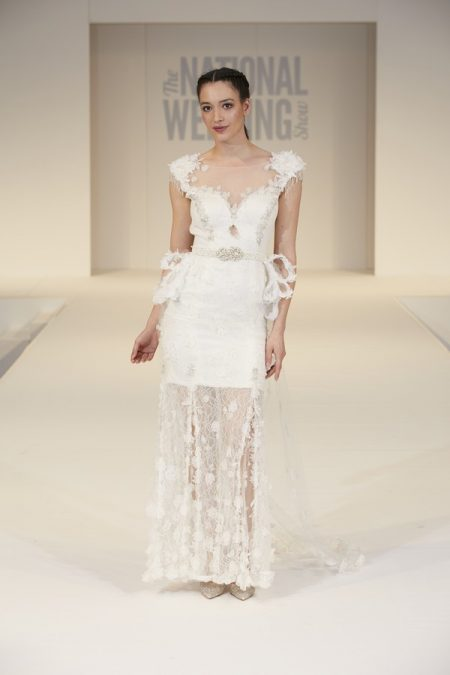 Elizabeth Bassant Wedding Dress on The National Wedding Show Catwalk Spring 2017