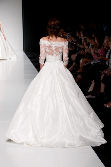 Back of Ellie wedding dress with Ellie Jacket from the Sassi Holford Twenty17 Bridal Collection