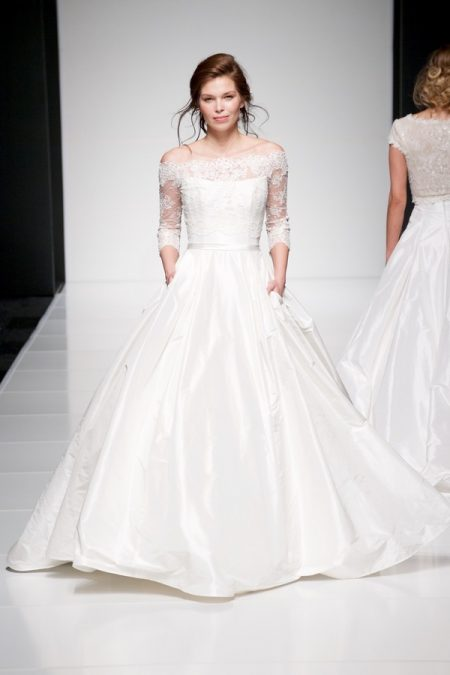 Ellie wedding dress with Ellie Jacket from the Sassi Holford Twenty17 Bridal Collection