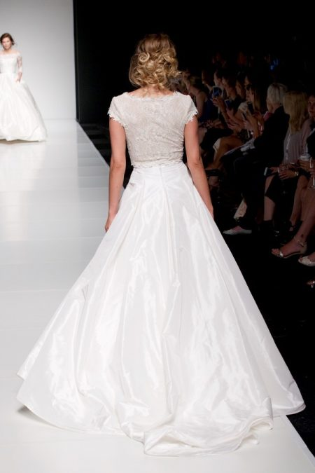 Back of Erica Top with Erin Skirt from the Sassi Holford Twenty17 Bridal Collection