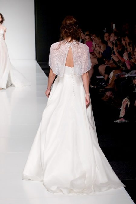 Back of Evie wedding dress with Evie Cape from the Sassi Holford Twenty17 Bridal Collection