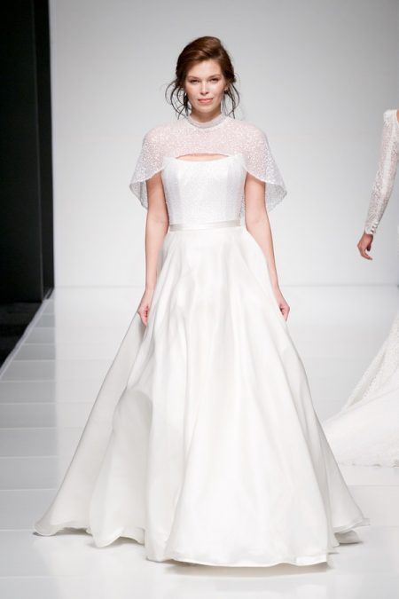 Evie wedding dress with Evie Cape from the Sassi Holford Twenty17 Bridal Collection
