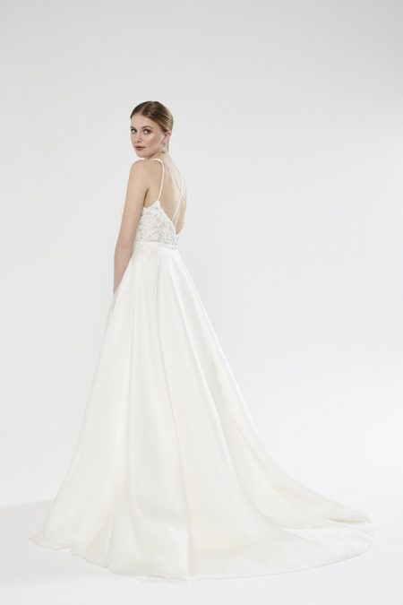 Back of Harper wedding dress from the Sassi Holford Twenty17 Bridal Collection