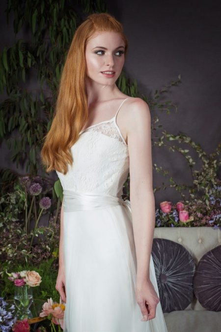 Kayleigh Over-Skirt with Cami Camisole and Silk Sash from the Naomi Neoh Eden 2017 Bridal Collection