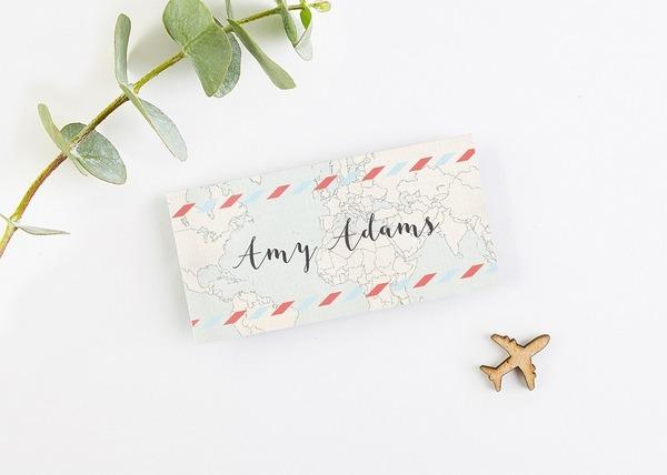 Map Folded Wedding Place Card