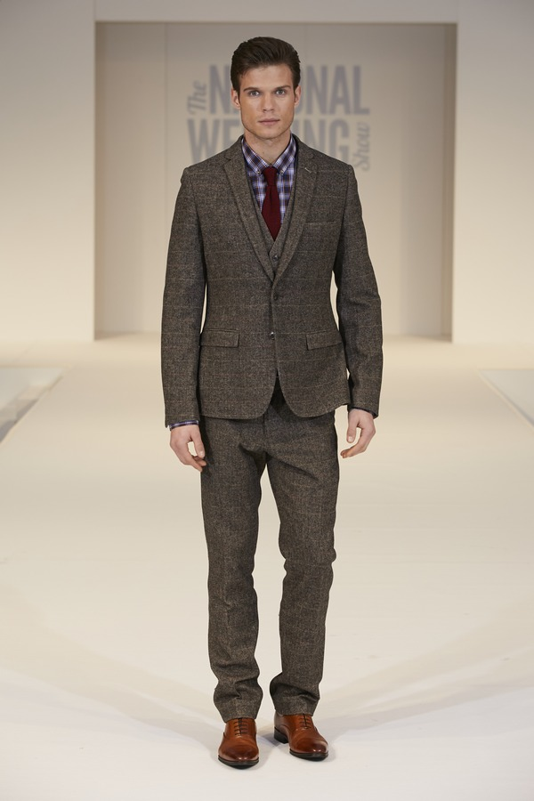 Moss Bros Tweed Suit on The National Wedding Show Catwalk Spring 2017