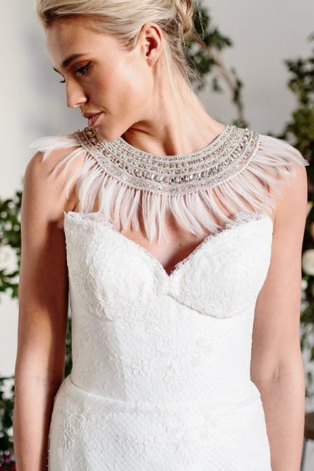Neckpiece from the Karen Willis Holmes Spring Meadow 2017 Bridal Collection