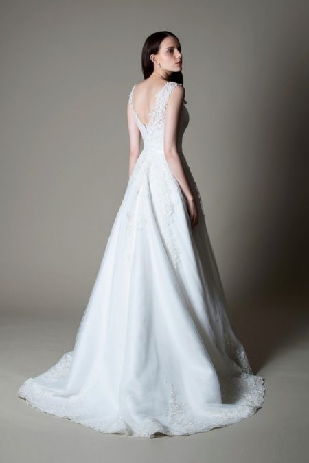 Back of Olivia wedding dress from the MiaMia True Romance 2017 Bridal Collection