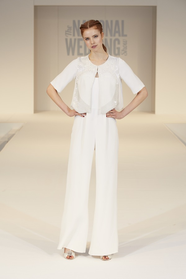 Poppy Dover Bridal Jumpsuit on The National Wedding Show Catwalk Spring 2017
