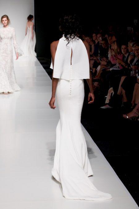 Back of Savannah wedding dress with Savannah Top from the Sassi Holford Twenty17 Bridal Collection