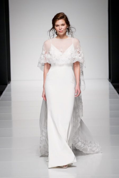 Sienna wedding dress with Savannah Cape from the Sassi Holford Twenty17 Bridal Collection