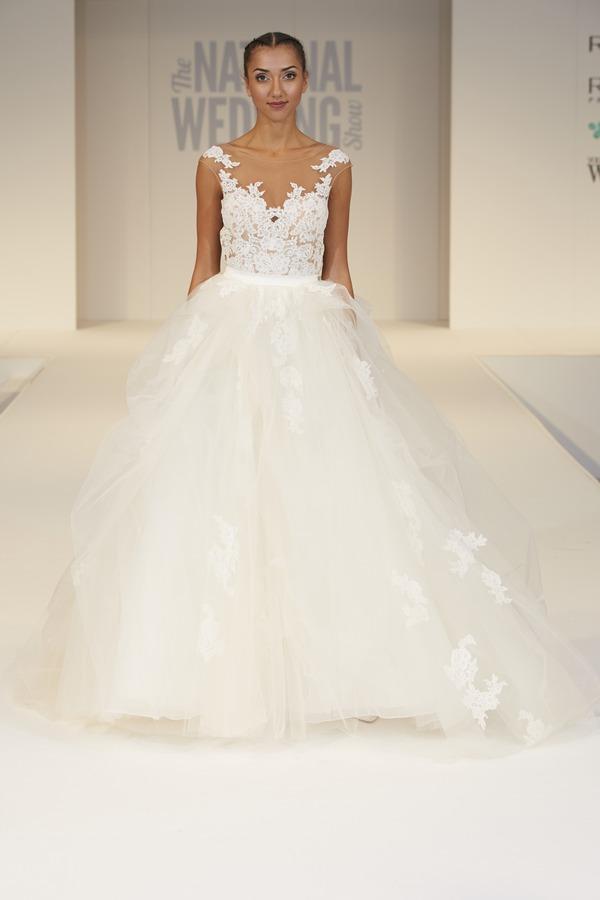 The Boutique UK Wedding Dress on The National Wedding Show Catwalk Spring 2017