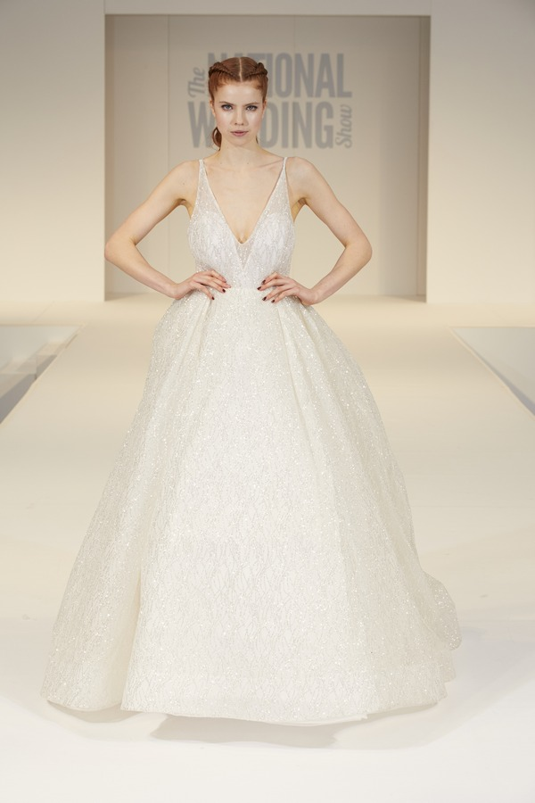 Truly Bridal of Surrey Wedding Dress on The National Wedding Show Catwalk Spring 2017