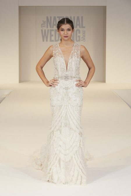Truly Bridal of Surrey Wedding Dress on The National Wedding Show Catwalk Spring 2017