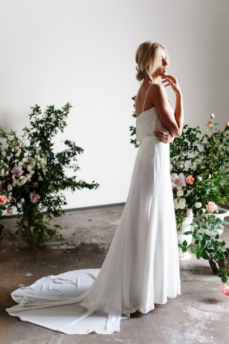 Back of Zaria and Grace from the Karen Willis Holmes Spring Meadow 2017 Bridal Collection