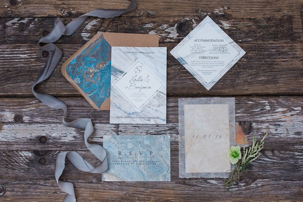 Wabi-sabi wedding stationery